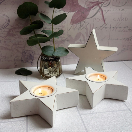 Over 50% off Alba White Star Tealight Holder